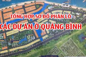 Tổng hợp sơ đồ các dự án Bất Động Sản ở Đồng Hới Quảng Bình