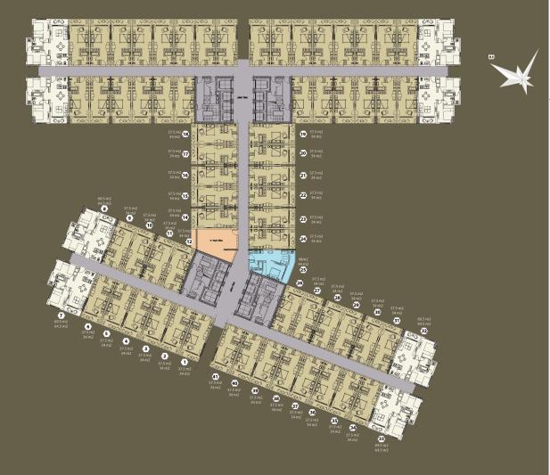 Mặt bằng tổng thể tòa A - Đà Nẵng Golden Bay