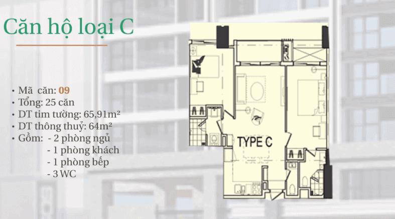 dự án căn hộ hiyori-căn hộ loại C