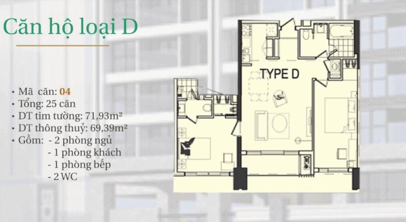 dự án căn hộ hiyori- căn hộ loại D