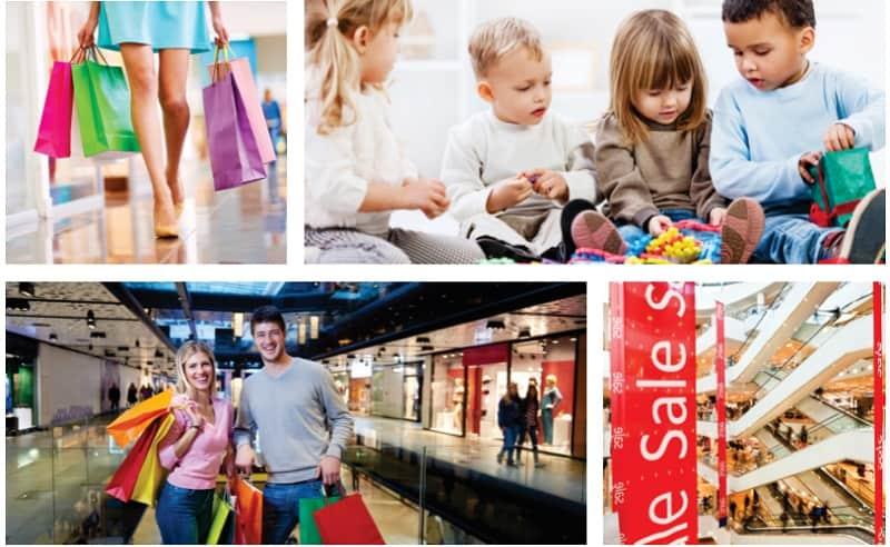 Khu mua sắm thương mại và trung tâm giải trí cho trẻ