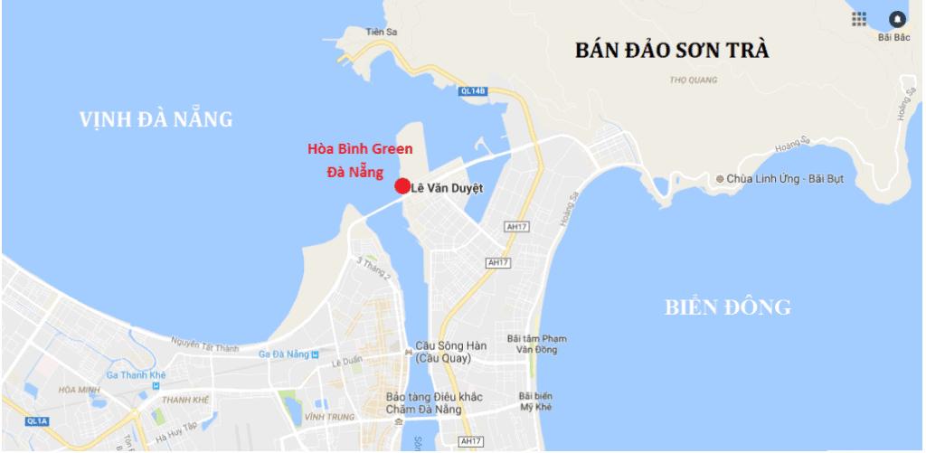 vị trí đà nẵng golden bay